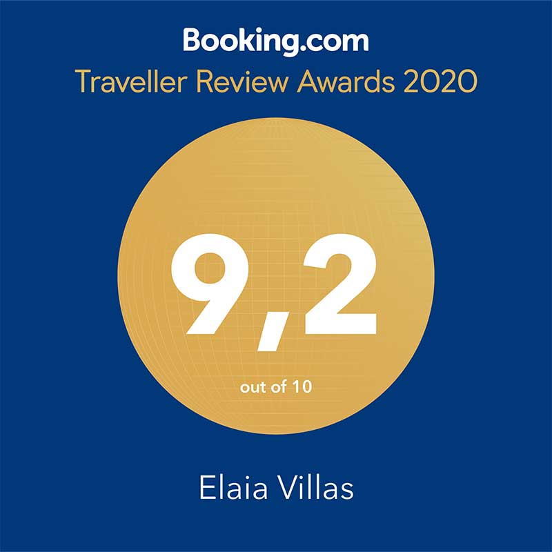 awarded by booking.com